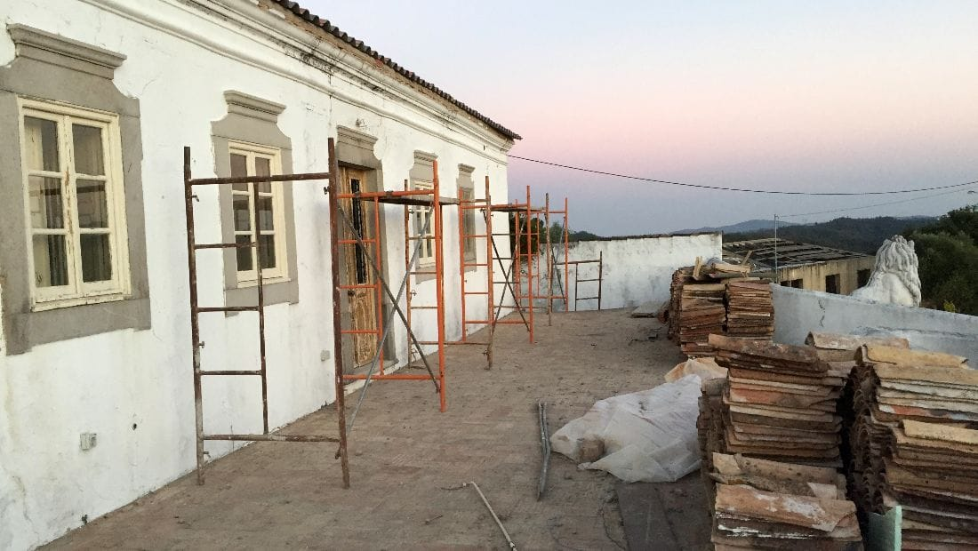 Exterior restoration of Wild View retreat, Corgas Bravas, Faro, Portugal