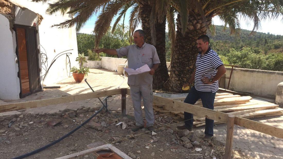 Creating the guest cottages at Wild View Retreat Corgas Bravas, Faro , Portugal