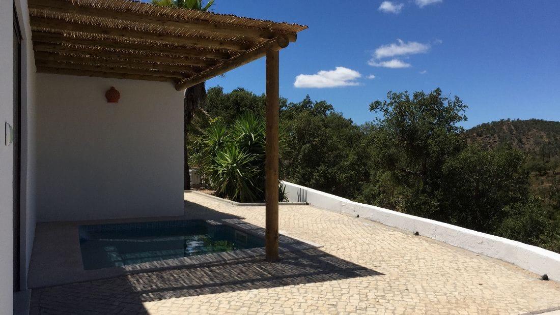 New pool at Wild View Retreat Corgas Bravas