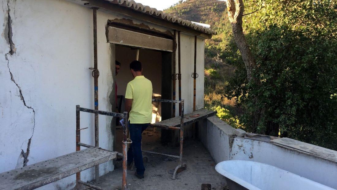 Construction at Wild View Retreat, Corgas Bravas, Faro, Portugal