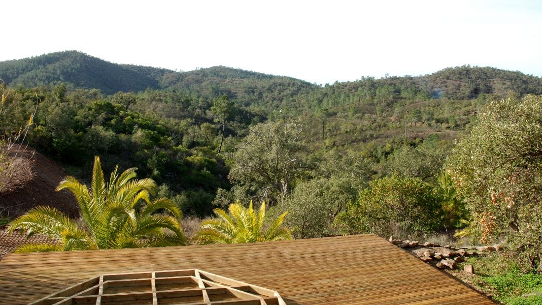 Yurt Decking at Wild View Retreat Corgas Bravas Faro Portugal